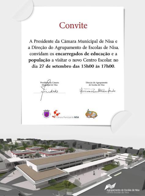 Centro escolar convite escola