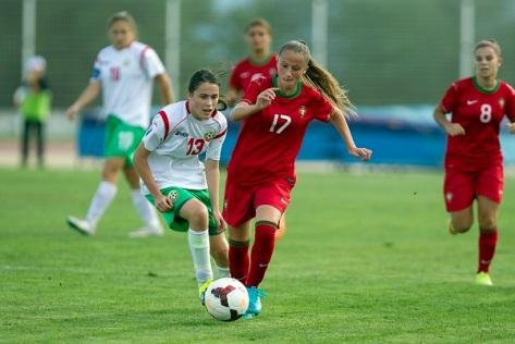 Jogo de prepara‹o Portugal-Bulgaria em sub 17 feminino, realizado no complexo desportivo da Covilh‹.