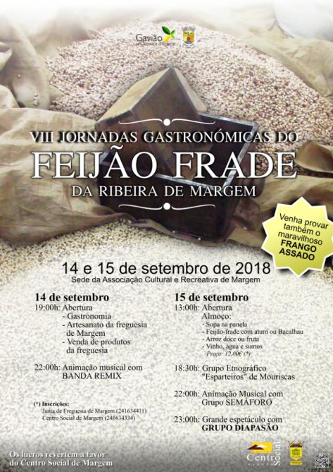 Gavião 20180914_viii_jornadas_gastronomicas_do_feijao_frade_da_ribeira_de_margem_cartaz