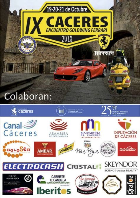 Ferrari Caceres Cartel-IX-ENCUENTRO-GOLDWING-FERRARI-257273494